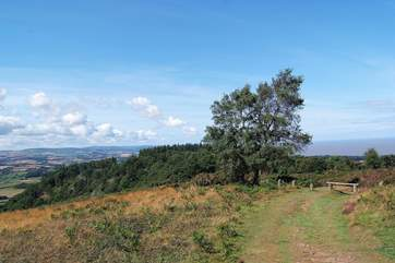 A view across the Bristol Channel to south Wales from the top of the Quantocks.