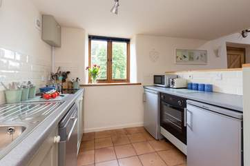 The kitchen is well equipped and well designed to make the most of the space.