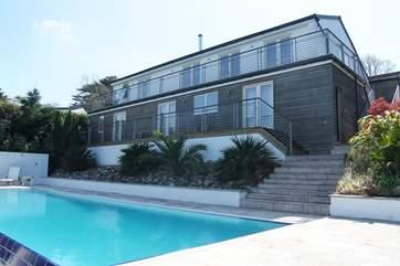 Piran House is a fabulous contemporary split-level house.