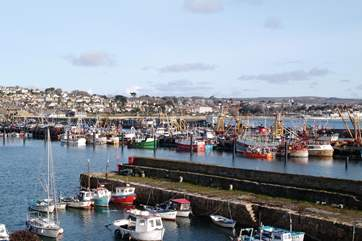 Newlyn Harbour is just six miles away.