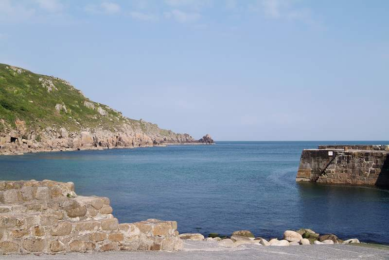 Lamorna Cove is eight miles away.