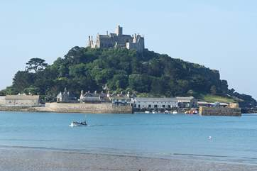 St Michael's Mount is one mile away.