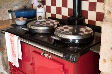 Prepare a meal on the Aga.