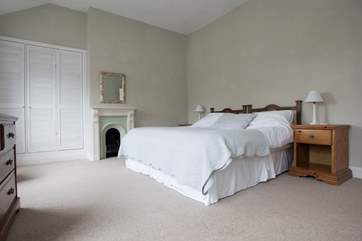 The master bedroom has a lovely comfy 6' bed.