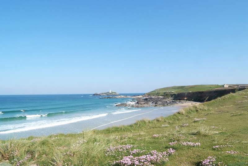 A view of Godrevy lighthouse, just a few minutes' drive away from Bolankan Barn.