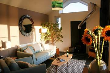 The fabulous open plan living-room.