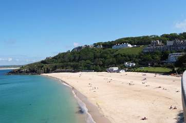 The lovely beach at St Ives.