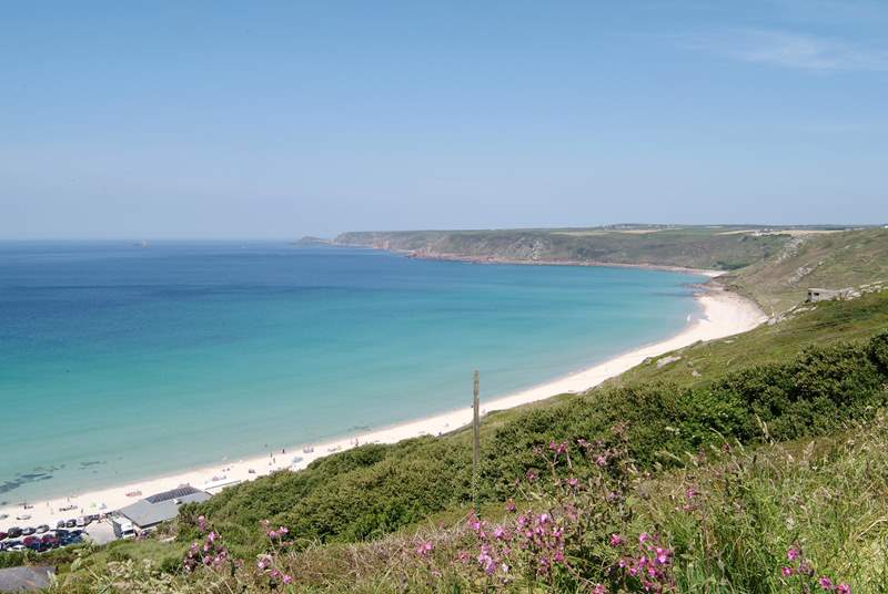 Sennen Cove is perfect for surfing and only a few miles away.