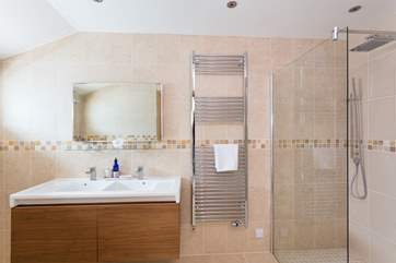 The en suite shower-room has a big walk-in shower.