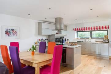 The colourful dining area.