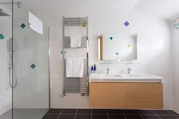 The shower-room en suite to Bedroom 2.