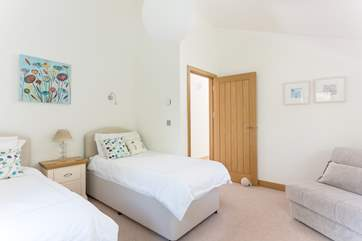 Bedroom 3 has a comfortable chair bed suitable for an extra child (available by prior arrangement).