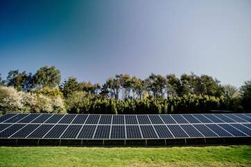 120 photovoltaic sloar panels produce more than enough energy for all The Emerald's needs and the surplus is fed into the National Grid.