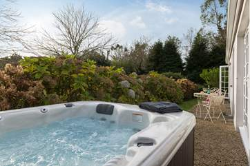 The private hot tub.