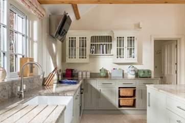 Lovely Shaker-style kitchen units.