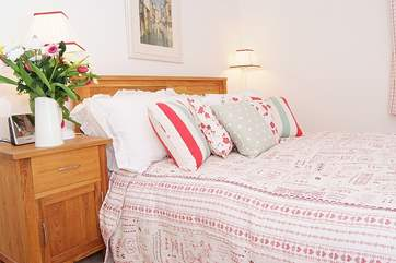 The double bedroom is very comfortable and inviting.