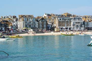 St Ives has pleasure boats, fishing trips and galleries to enjoy.