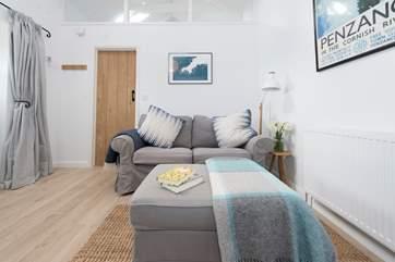 A comfy sofa, put your feet up.
