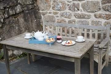 Enjoy an al fresco tea.