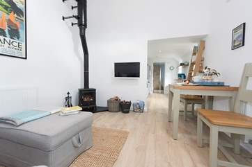 The living-area is open plan.