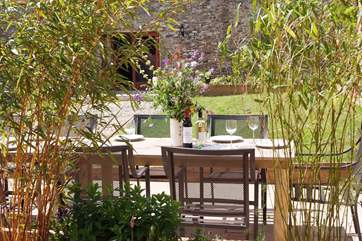 Suppers in the garden - the perfect setting for a celebration or simply a sociable extended family meal.