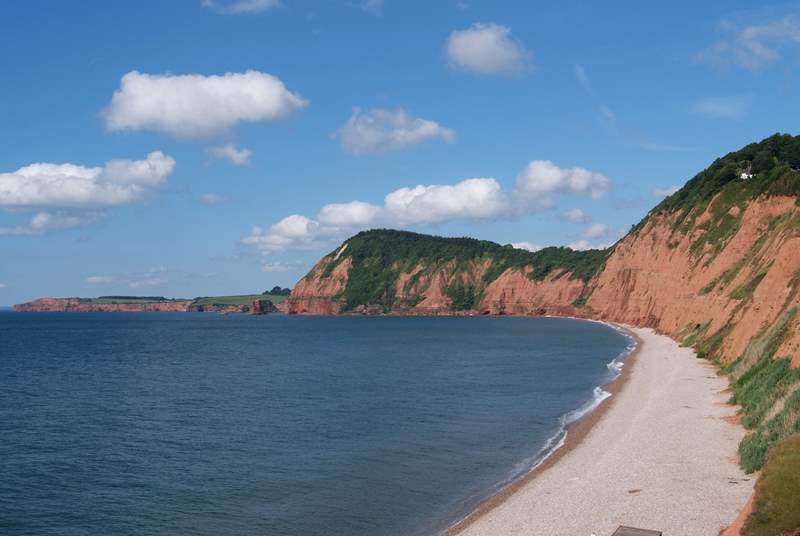 The stunning Jurassic Coast is a short drive away - this is at Sidmouth.