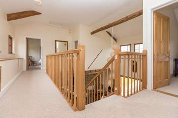 There is a grand landing linking the four first floor bedrooms.