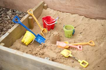 There is even a sandpit for the younger children.