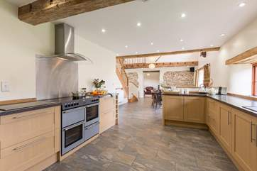 There is a superbly equipped kitchen and so much space, all open plan to the rest of the living space so that it is very sociable.