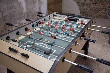 Children and adults will enjoy the table-football!