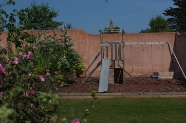Children will love the outdoor  play-area.