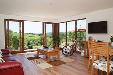Pennti has a lovely light-filled open plan living-room.
