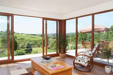 There are fabulous views across the garden and golf course.