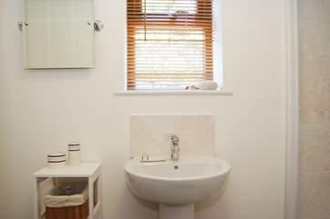 This shower-room is en suite to Bedroom 2.
