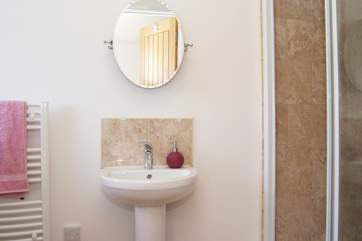 This shower-room is en suite to Bedroom 1.