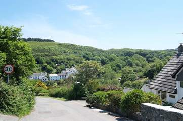 Heading on down the hill into Porthallow....