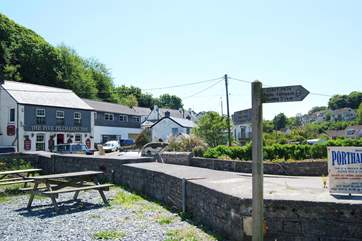 What to do next? A bracing walk along the coastal footpath - or a pint in the local hostelry?