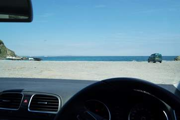 ....you can park your car there and do a spot of wave-watching whatever the weather!