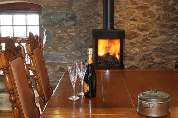 The cosy wood-burner will keep you warm throughout the cooler months.