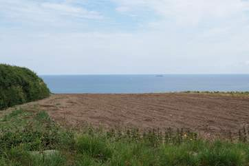 The view from the garden just after ploughing.