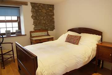 Bedroom 3 is furnished with a lovely wooden double bed (4' 6