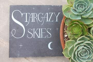 Lots of lovely touches at Stargazy Skies.