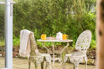 A perfect place for outdoor meals on sunny days.
