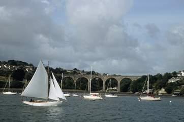 Sailing on the Tamar close to Saltash.