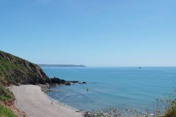 Portwrinkle beach on the nearby Rame peninsula.