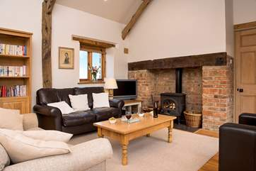 The toasty woodburner makes this an ideal retreat for those winter breaks