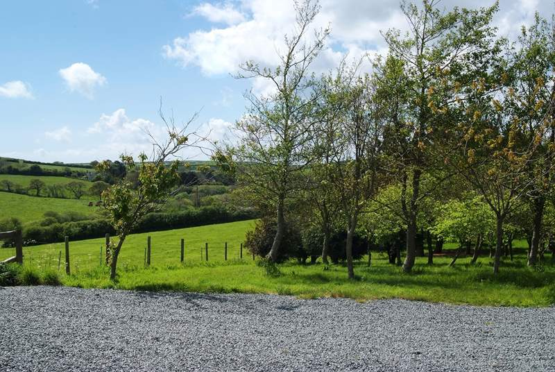 The cottage is surrounded by countryside views and is only a short drive from the beach at Poldhu.