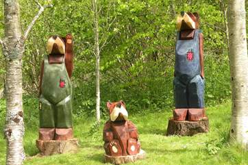 If you go down to the wood today you may spot the three bears....