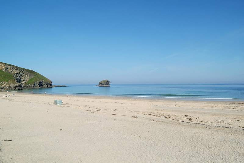 On a sunny spring or autumn day, you might even have a beach all to yourself!