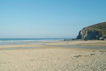Sandy Porthtowan beach is just a few minutes' drive from Trelyn.